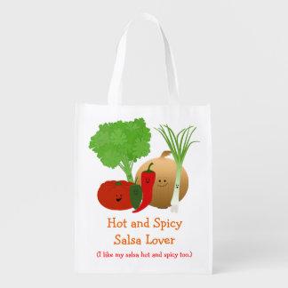 Funny Garden Salsa Reusable Bag