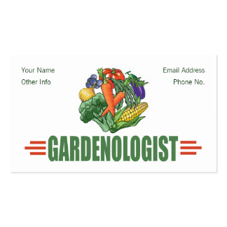 Funny Gardener Business Card Templates