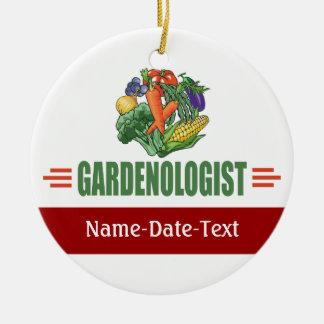 Funny Gardener Ceramic Ornament