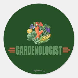 Funny Gardener Classic Round Sticker