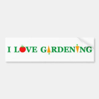 Funny Gardener I LOVE GARDENING! Bumper Sticker