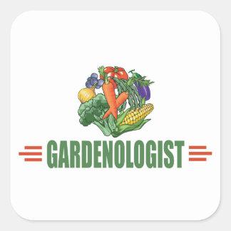 Funny Gardener Square Sticker