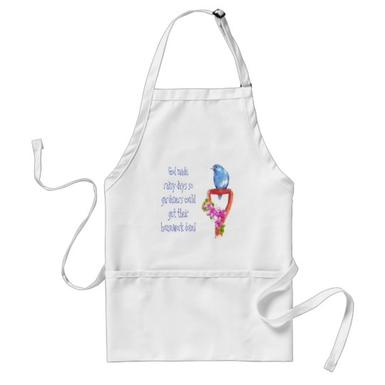 Funny Gardening Quote, Bluebird Adult Apron