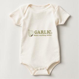 Funny Garlic Baby Bodysuit