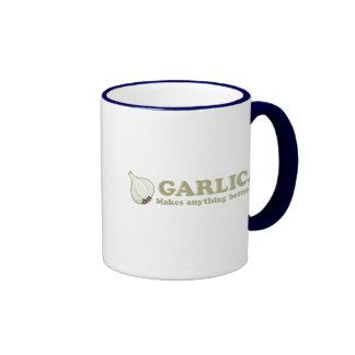 Funny Garlic Ringer Coffee Mug