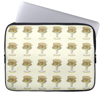 Funny Gateau Watercolour Art Quirky Cake Design Laptop Sleeve