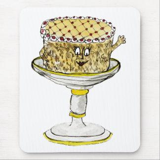 Funny Gateau Watercolour Art Quirky Cake Design Mouse Pad