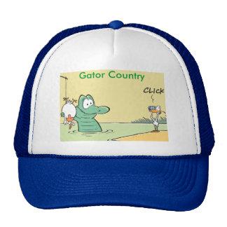 Funny Gator Country Cartoon Cap