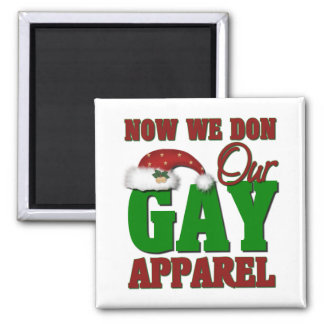 Funny Gay Christmas Gift 2 Inch Square Magnet