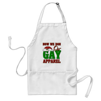Funny Gay Christmas Gift Adult Apron