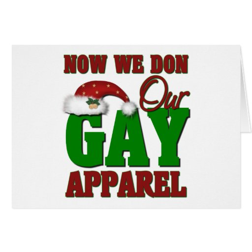 Funny Gay Christmas Gift Greeting Card