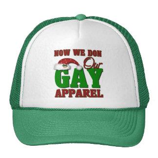 Funny Gay Christmas Gift Mesh Hat