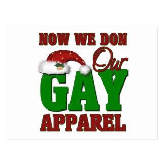 Funny Gay Christmas Gift Postcard