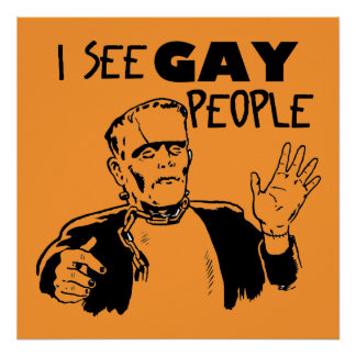 Funny Gay Halloween Poster