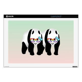 "Funny Gay Panda Wearing Glasses 17"" Laptop Decal"