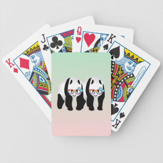 Funny Gay Panda Wearing Glasses Bicycle Playing Cards
