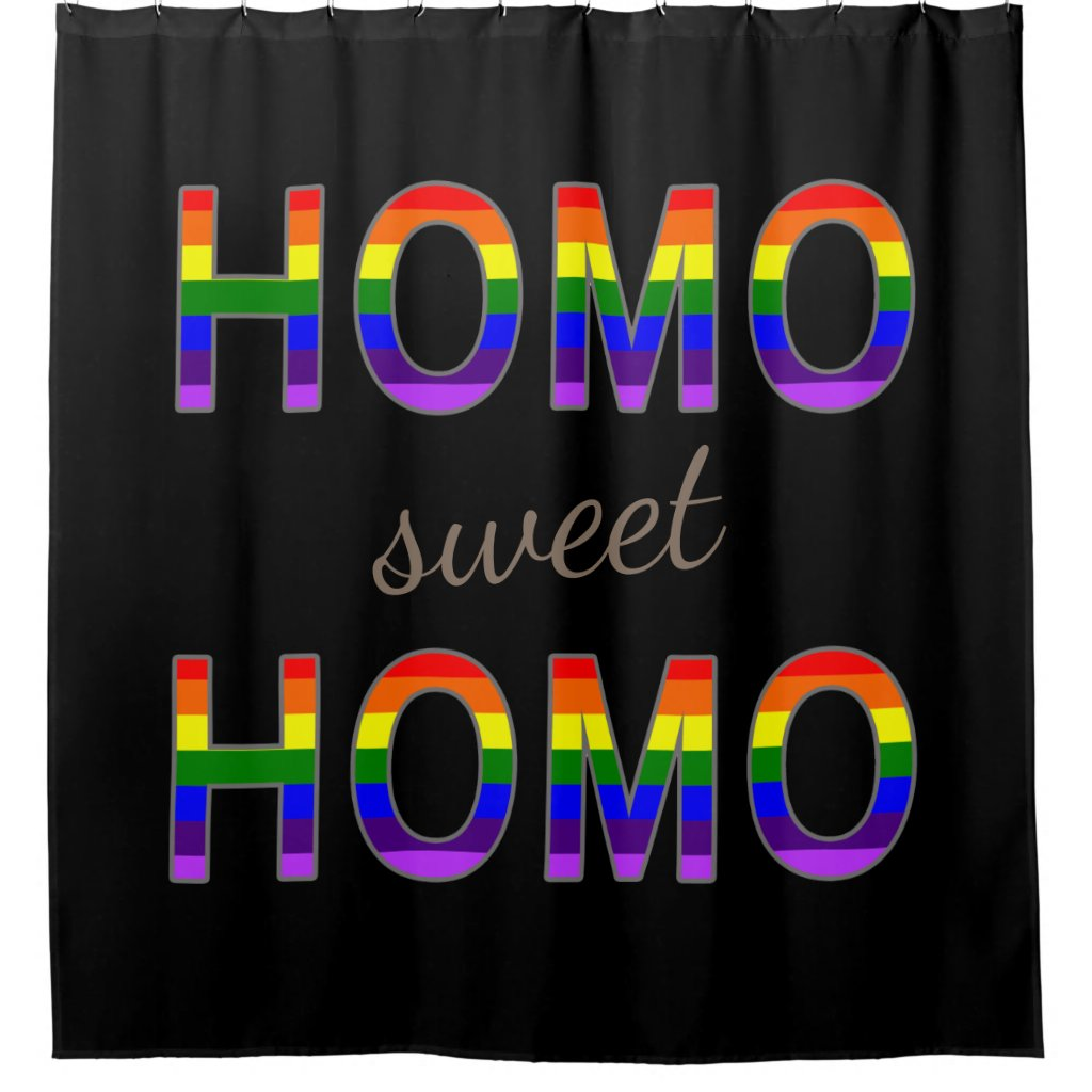 Funny Gay Rainbow Flag Colors Homo Sweet Homo