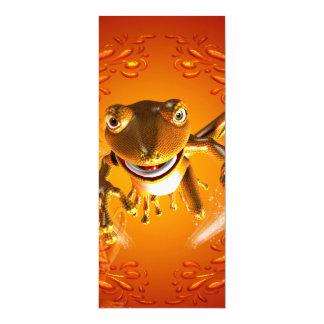 Funny gecko 4x9.25 paper invitation card