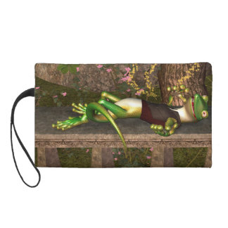 Funny gecko wristlet