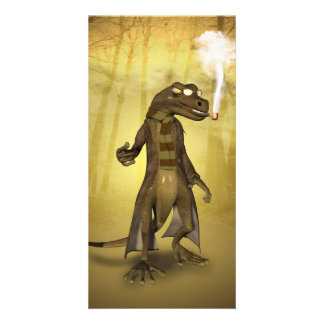 Funny gecko card