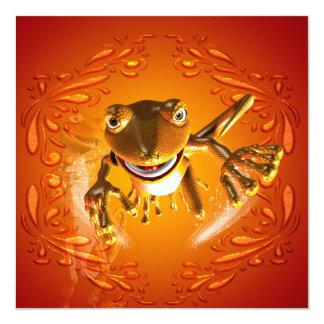 Funny gecko invitation