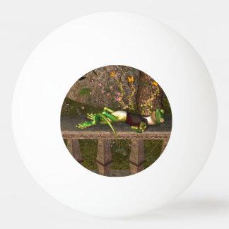 Funny gecko ping pong ball