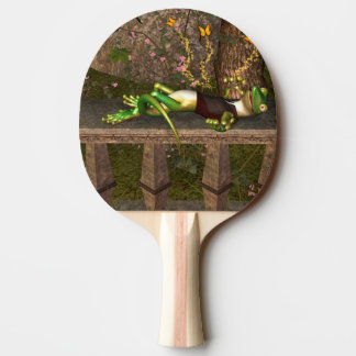 Funny gecko Ping-Pong paddle