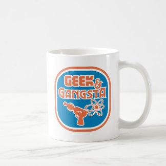 Funny Geek Gangsta Ray Gun Classic White Coffee Mug