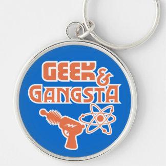 Funny Geek Gangsta Sci-Fi Ray Gun Keychain