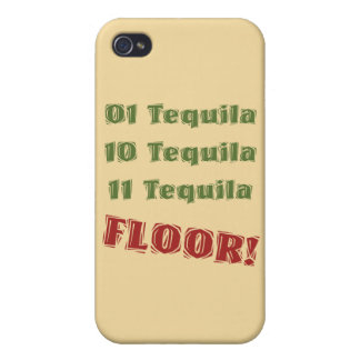Funny Geek Nerdy Binary Tequila Drinking Spoof iPhone 4/4S Case