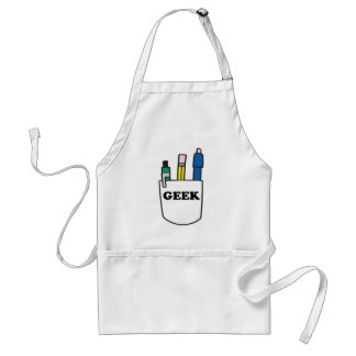 Funny GEEK Pocket Protector Adult Apron