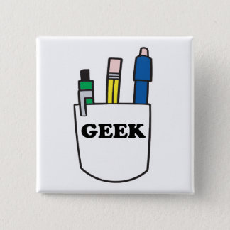 Funny GEEK Pocket Protector Button