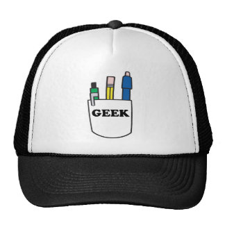 Funny GEEK Pocket Protector Hats