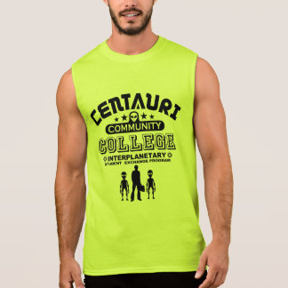 Funny Geek Sci Fi Alien Student Exchange Sleeveless T-shirt