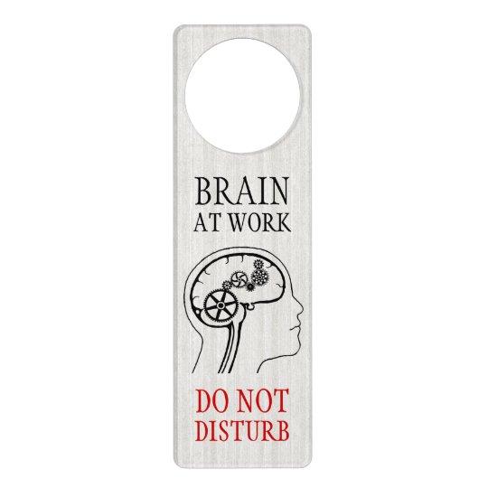 Funny Geek Work Study Do Not Disturb Door Hanger