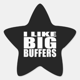 Funny Geeks Nerds IT : I Like Big Buffers Star Sticker
