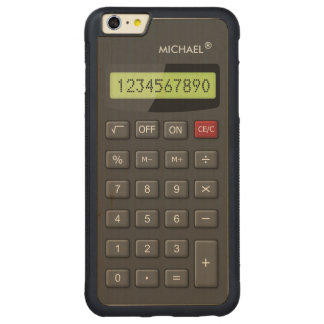 Funny Geeky Calculator Pattern Personalized Carved® Maple iPhone 6 Plus Bumper Case