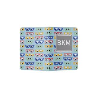 Funny Geeky Googly Eyes, Multicolor Unisex Bag Passport Holder