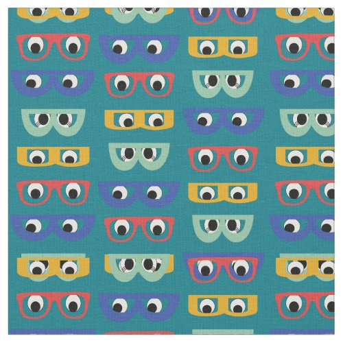 Funny Geeky Googly Eyes multicolor Unisex Case Fabric