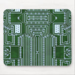 Funny Geeky Nerd Computer Circuit Board Pattern Mouse Pad