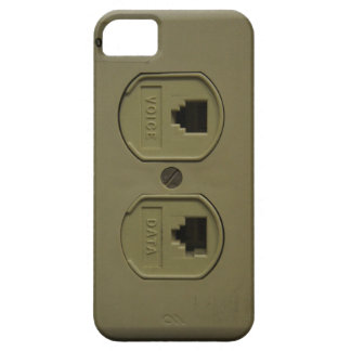 Funny Geeky Phone Jack Voice and Data Plug iPhone SE/5/5s Case