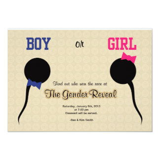 "Funny Gender Reveal Party Invitation/ Announcement 5"" X 7"" Invitation Card"