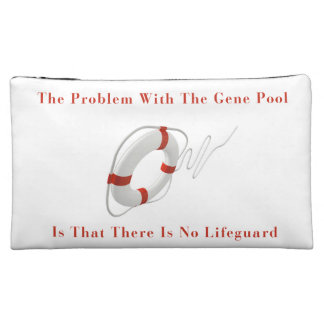 Funny Gene Pool Lifeguard Cosmetic Bag