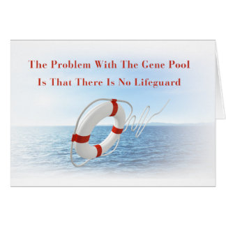 Funny Gene Pool Lifeguard Greeting Card