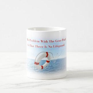 Funny Gene Pool Lifeguard Mug