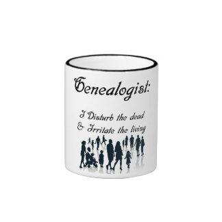Funny Genealogist Ringer Coffee Mug