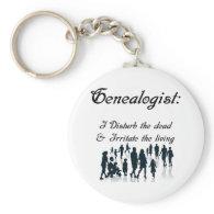 Funny Genealogy Keychain