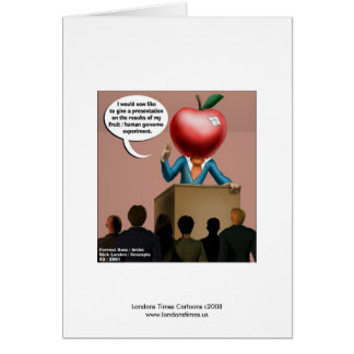 Funny Genome Experiment Quality Notecards Card