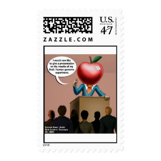 Funny Genome Men's Postage Stamps (Set of 12)