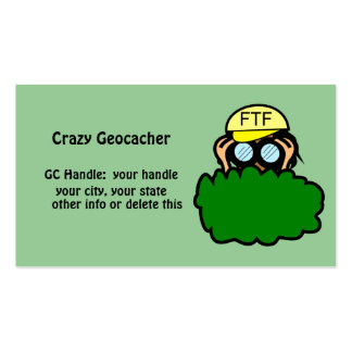 Funny Geocacher Geocaching Handle Signature Card Business Cards